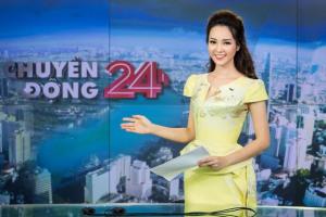 Sau BTV Hoài Anh, đến lượt Á hậu Thuỵ Vân gặp sự cố hi hữu trên sóng trực tiếp
